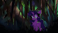 Size: 1920x1080 | Tagged: safe, artist:hierozaki, artist:nekosnicker, twilight sparkle, alicorn, pony, collaboration, solo, twilight sparkle (alicorn)