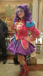 Size: 1024x1821 | Tagged: safe, artist:mieucosplay, rarity, human, equestria girls, friendship through the ages, clothes, cosplay, costume, hand on hip, irl, irl human, nail polish, photo, ponycon nyc, ponycon nyc 2016
