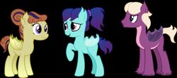Size: 4005x1758   Tagged: safe, artist:littlejurnalina, oc, oc only, bat pony, female, male, mare, simple background, stallion, transparent background