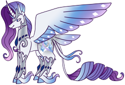 Size: 2240x1521   Tagged: safe, artist:eonionic, rarity, alicorn, pony, alicornified, race swap, raricorn, simple background, solo, tail feathers, transparent background