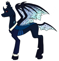 Size: 2444x2520   Tagged: safe, artist:agdapl, oc, oc only, changeling, changeling oc, clothes, cuffs (clothes), simple background, solo, transparent background