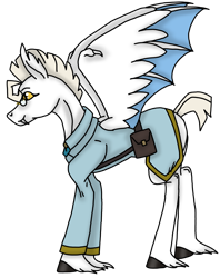 Size: 2343x2953   Tagged: safe, artist:agdapl, pegasus, pony, bag, clothes, crossover, hoof fluff, male, medic, ponified, saddle bag, simple background, species swap, stallion, team fortress 2, transparent background, wings