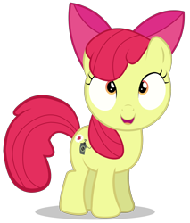 Size: 2300x2700 | Tagged: safe, artist:hanifanims, apple bloom, earth pony, pony, bloom and gloom, female, filly, simple background, solo, transparent background, vector