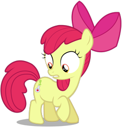 Size: 2000x2100 | Tagged: safe, artist:hanifanims, apple bloom, earth pony, pony, bloom and gloom, female, filly, simple background, solo, transparent background, vector