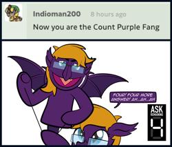 Size: 900x768 | Tagged: safe, artist:alexdti, oc, oc:purple creativity, pony, count von count, puppet, solo