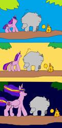 Size: 621x1286 | Tagged: safe, twilight sparkle, oc, alicorn, mouse, original species, rhinoceros, the last problem, hakuna matata, older, older twilight, princess twilight 2.0, twilight sparkle (alicorn)