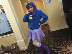 Size: 1024x768   Tagged: safe, artist:cinemapony, rarity, human, equestria girls, clothes, cosplay, costume, hand on hip, irl, irl human, pacific ponycon, pacific ponycon 2016, photo, wondercolts uniform