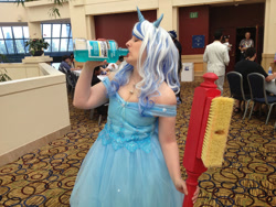 Size: 1024x768   Tagged: safe, artist:cinemapony, minuette, human, babscon, babscon 2015, clothes, cosplay, costume, irl, irl human, mouth wash, photo, toothbrush
