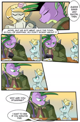 Size: 1280x1949 | Tagged: safe, artist:candyclumsy, spike, oc, earth pony, unicorn, comic:revolution of harmony, colt, earth pony oc, female, horn, male, mare, older, older spike, unicorn oc