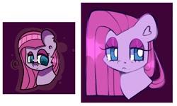 Size: 1734x1038   Tagged: safe, artist:bunxl, pinkie pie, earth pony, pony, frown, lidded eyes, pinkamena diane pie, redraw, solo