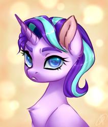 Size: 2527x2985   Tagged: safe, artist:megabait, starlight glimmer, pony, unicorn, bust, portrait, sketch