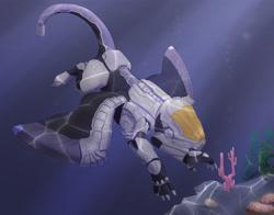 Size: 4200x3300   Tagged: safe, artist:silfoe, oc, oc only, oc:suban, griffon, armor, coral, underwater