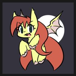 Size: 427x426 | Tagged: safe, artist:dshou, artist:nyaseiru, oc, oc:shooting star, bat pony, simple background, solo