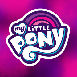 Size: 800x800 | Tagged: safe, official, abstract background, my little pony logo, no pony, profile picture, youtube