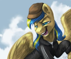 Size: 2057x1696 | Tagged: safe, artist:rillakim_long, pegasus, pony, nation ponies, ponified, solo, ukraine