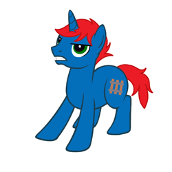 Size: 900x900   Tagged: safe, artist:mikumikubases, artist:ry-bluepony1, oc, oc:train track, unicorn, angry, base used, cutie mark, mane, show accurate, tail
