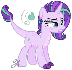 Size: 894x868   Tagged: safe, artist:stellaartist13, oc, oc only, dracony, hybrid, base used, female, frown, gritted teeth, interspecies offspring, offspring, parent:rarity, parent:spike, parents:sparity, simple background, solo, transparent background
