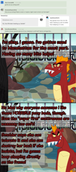 Size: 900x2021 | Tagged: safe, artist:queencold, garble, dragon, ask garble, bed, complaining, manehattan, solo, tree