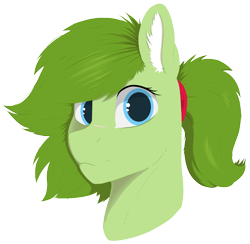Size: 3090x3016 | Tagged: safe, artist:cold blight, oc, oc only, oc:lief, cute, female, floppy ears, lineless, ponytail, simple background, smiling, transparent background