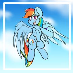 Size: 5000x5000 | Tagged: safe, artist:theawkwarddork, rainbow dash, pegasus, pony, absurd resolution, female, flying, mare, solo