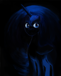 Size: 4688x5771   Tagged: safe, artist:misstwipietwins, princess luna, alicorn, pony, absurd file size, absurd resolution, sketch, solo, uncanny valley