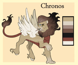 Size: 1280x1076   Tagged: safe, artist:primrosepaper, oc, oc only, oc:chronos, draconequus, hybrid, interspecies offspring, magical gay spawn, male, multiple wings, offspring, parent:discord, parent:doctor whooves, parents:whoovescord, wings