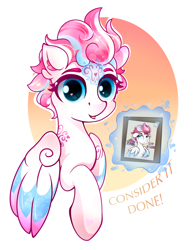 Size: 2334x2974   Tagged: safe, artist:eris azure, star catcher, zipp storm, pegasus, pony, g3, g5, my little pony: a new generation, alternate hairstyle, blue eyes, colored wings, crossover, cute, female, females only, generation leap, logo, magic, my little pony: a new generation logo, poster, short hair, simple background, text, wings