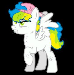 Size: 1280x1303   Tagged: safe, artist:renhorse, oc, oc:touchdown, pegasus, pony, backwards ballcap, baseball cap, cap, hat, male, simple background, solo, stallion, transparent background