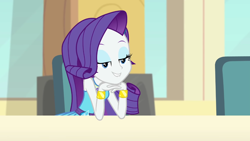 Size: 1294x729 | Tagged: safe, screencap, rarity, a queen of clubs, equestria girls, equestria girls series, solo