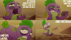 Size: 1280x720 | Tagged: safe, edit, edited screencap, editor:quoterific, screencap, spike, dragon, my little pony: the movie, faic, male, open mouth, solo, sweat