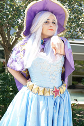 Size: 2000x3000   Tagged: safe, artist:mieucosplay, artist:notsoprophoto, trixie, human, bronycon, bronycon 2017, cape, clothes, cosplay, costume, hand on hip, hat, irl, irl human, photo, trixie's cape, trixie's hat