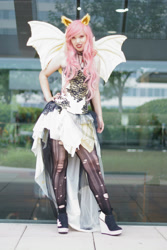 Size: 2000x3000 | Tagged: safe, artist:notsoprophoto, fluttershy, bat pony, human, bronycon, bronycon 2017, bat ponified, clothes, cosplay, costume, flutterbat, hand on hip, irl, irl human, photo, race swap