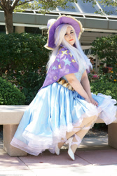 Size: 2000x3000 | Tagged: safe, artist:mieucosplay, artist:notsoprophoto, trixie, human, bronycon, bronycon 2017, cape, clothes, cosplay, costume, hat, irl, irl human, photo, sitting, trixie's cape, trixie's hat