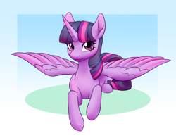Size: 2800x2200 | Tagged: safe, artist:anvalina, twilight sparkle, alicorn, pony, female, high res, lying down, mare, prone, solo, spread wings, twilight sparkle (alicorn), wings