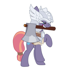 Size: 1600x1529 | Tagged: safe, artist:gmaplay, sun cross, earth pony, pony, axe, female, guardsmare, helmet, mare, mighty helm, royal guard, solo, weapon