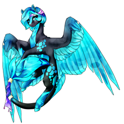 Size: 3514x3508 | Tagged: safe, artist:oneiria-fylakas, oc, oc:astrum, pegasus, pony, crystallized, male, solo, stallion, two toned wings, wings