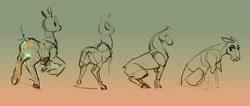 Size: 2562x1085 | Tagged: safe, artist:alumx, earth pony, pony, gradient background, hoers, sketch