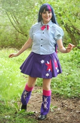 Size: 699x1074 | Tagged: safe, artist:sarahndipity cosplay, twilight sparkle, human, equestria girls, clothes, cosplay, costume, irl, irl human, photo