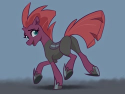 Size: 2224x1668 | Tagged: safe, artist:nadnerbd, tempest shadow, pony, unicorn, broken horn, female, horn, mare, smiling, solo