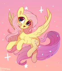 Size: 2480x2826 | Tagged: safe, artist:enderselyatdark, fluttershy, pegasus, chest fluff, cute, ear fluff, female, flying, high res, mare, shyabetes, solo