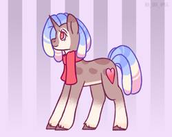 Size: 2500x2000 | Tagged: safe, artist:buy_some_apples, oc, oc only, unicorn, clothes, dreadlocks, scarf