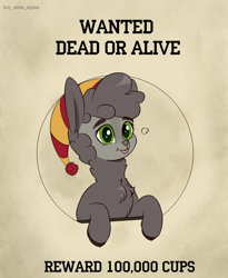 Size: 2700x3300 | Tagged: safe, artist:buy_some_apples, oc, oc only, alpaca, fallout equestria, hat, poster, wanted poster
