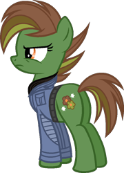 Size: 674x937 | Tagged: safe, artist:pegasski, oc, oc:spring fever, earth pony, pony, female, mare, simple background, solo, transparent background
