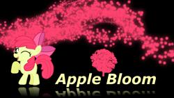 Size: 1920x1080 | Tagged: safe, artist:xvanilla-twilightx, apple bloom, female, filly, solo, wallpaper