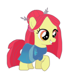 Size: 423x435 | Tagged: safe, artist:evergreen2024, apple bloom, earth pony, pony, clothes, cosplay, costume, dress, female, filly, gods' school, hygieia, solo
