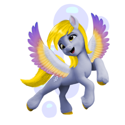 Size: 1080x1080 | Tagged: safe, artist:soft_angel, edit, derpy hooves, pegasus, pony, g5, base used, female, g4 to g5, generation leap, mare, simple background, transparent background, wings