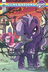 Size: 1349x2048 | Tagged: safe, artist:michela cacciatore, pinkie pie, idw, spoiler:comic, spoiler:comicgenerations03, cover, violet shiver