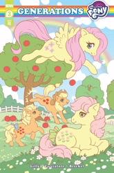 Size: 1349x2048 | Tagged: safe, artist:samantha whitten, applejack, applejack (g1), fluttershy, posey, idw, spoiler:comic, spoiler:comicgenerations03, cover