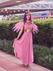 Size: 1028x1365 | Tagged: safe, artist:xen photography, princess cadance, human, bronycon, bronycon 2015, clothes, cosplay, costume, cropped, irl, irl human, photo