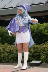 Size: 2592x3888 | Tagged: safe, artist:mieucosplay, trixie, human, bronycon, bronycon 2014, boots, clothes, cosplay, costume, gloves, high heel boots, irl, irl human, photo, shoes